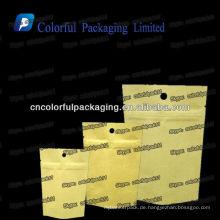 Verschiedene Arten von Kraft Papiertüten / Kraft brauner Papierfolie Taschen mit Reißverschluss / Kraftpapier Taschen Großhandel Indien