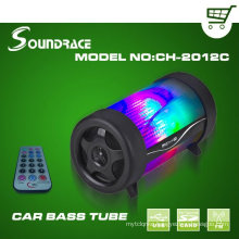 Car bass tube with 4 inch speaker