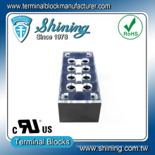 TB-31504CP Surface Mounted 15A 4 Pole Fixed Barrier Terminal Block