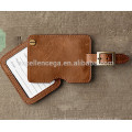 brown leather luggage tag gift idea