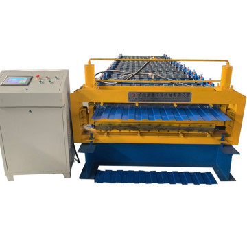 Double Layer steel Roof Tile Roll Forming Machine