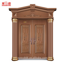 House outside decoration door head frame steel door surround pillars roman pillars