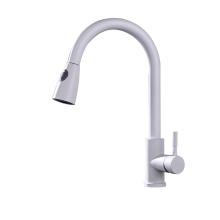 White Brass 2.2 GPM Kitchen Faucet