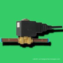 Válvula solenóide de atuação direta com bobina magnética totalmente fechada