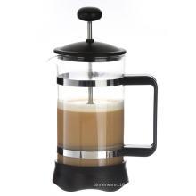 Chaleur résistance Borosilicate Français Appuyez sur Pot de café