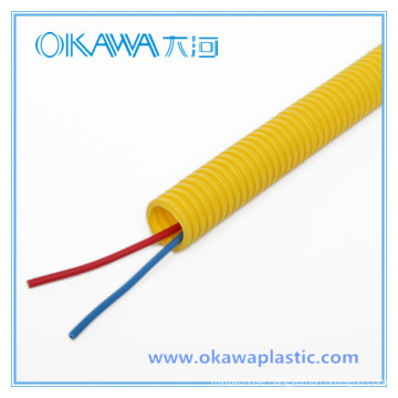 Yellow PVC Corrugated Conduit Hose by TUV Approval