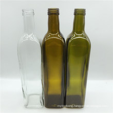 Hot-Selling Square Cooking Oil Olive Oil Glass Bottle with Metal Lid