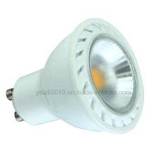 6W 530lm Dimmable GU10 fait de l'ampoule de tache de plastique + aluminium LED
