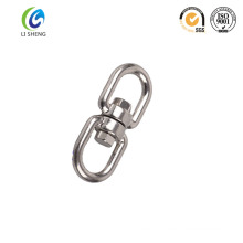 Polished stainless steel eye and eye swivel for chain