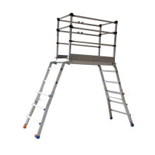 aluminium scaffold ladder system with rubber feet