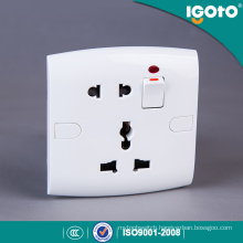 British Mf Socket, 5 Pin Wall Socket with Neon