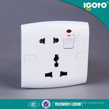Interruptor elétrico moderno e soquete da parede do padrão E19 britânico de Igoto