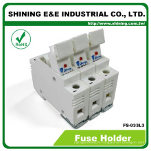 FS-033L3 With LED Indicator 600V 32A 3 Pole 10x38 Fuse Holder