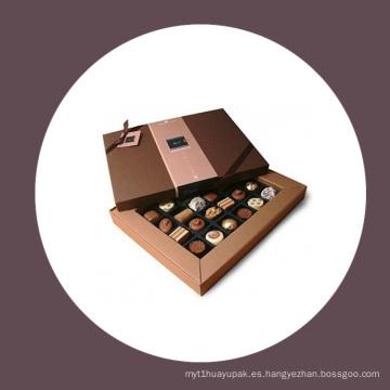 Caja de regalo de papel de chocolate / caja de cartón con estampado en caliente