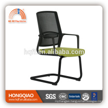 CV-B206BS-1 powder coating base fixed nylon armrest mid mesh back office chair