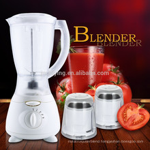 New Design Factory Price 1.5L Plastic Jar 3 in 1 Electric Blender With Two Grinders