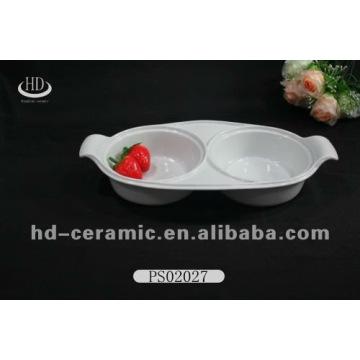 Good qulity dishwasher safe unique shape plain white ceramic wedding plates dishes