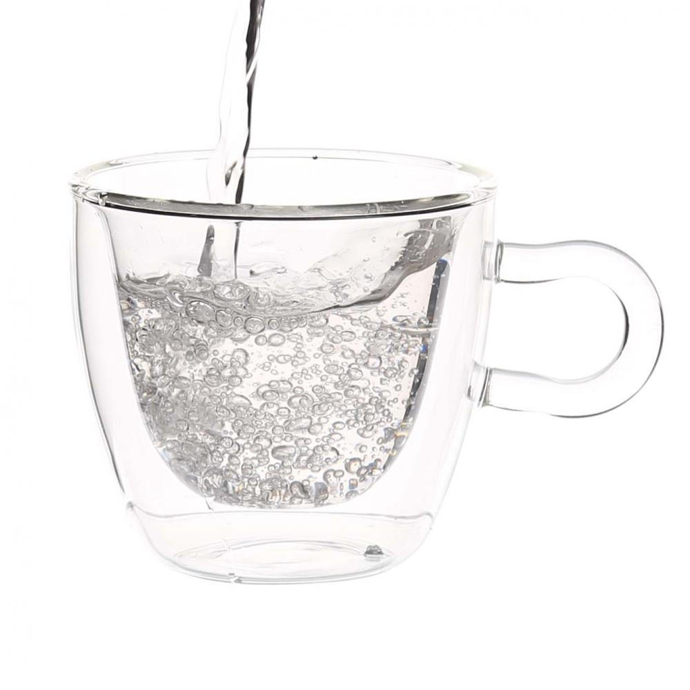 Hot Sale Clear Heat Resist double layer cups