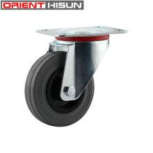 100mm karet elastis semi putar Caster wheel roda