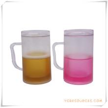 Tasse givrée à double paroi Tasse à bière glacée glacée pour cadeaux promotionnels (HA09121)