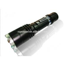 Оптовый перезаряжаемый zoomable лучший светодиодный фонарик фонарик