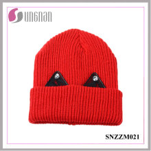 2016 Latest Warm Thick Wool Cap Lovely Lace Rhinestone Ear Knit Hat
