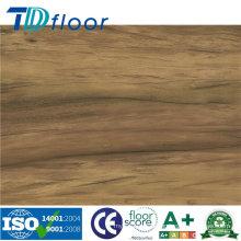 O vinil luxuoso de Lvt telha o revestimento de madeira decorativo do vinil do PVC do teste padrão
