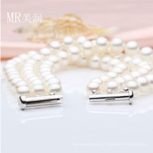 3strands 6-7mm Nature Freshwater Pearl Fashion Bracelet (E150036)