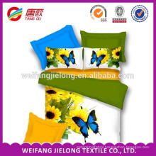 100% polyester brushed poly bed sheet printed fabric in China