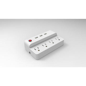 4 outlet dan 3 strip daya meja USB