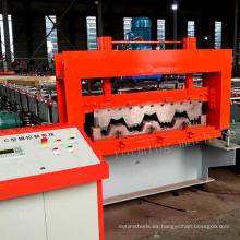 China munafacturer 750 solo piso del piso del azulejo del metal que cubre el rollo de la producción de la cubierta del piso que forma la línea