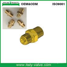 USA Tipo Latón Forjado Flare Nipple / Male Connector (320208)
