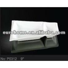 Porzellanplatte Thali mit 2 Teilen