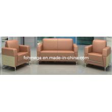 Cheap PU Sofa Office Sofa Loby Sofa Set (FOH-8016)