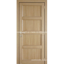 Interior Oak Arch Top Half Panel Wood and Glass Door, Oak Wood and Glass Door