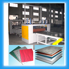 PUR hot melt glue laminating line for high gloss panel/ acrylic mdf roller laminating line/