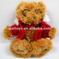новый прекрасный плюшевый плюшевые игрушки медведь в очках и пальто