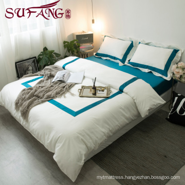 Luxury hotel Used hotel bedding set 100% cotton with cheapest price and high quality
