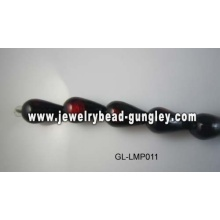 Black Water Drop-Lampwork-beads