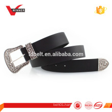 Genuine Leather old silver buckle Western Belts