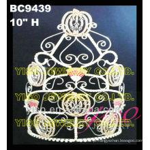 Cristal de férias personalizado princesa tiara coroa ao atacado