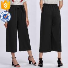Los pantalones anchos de la pierna del lazo manufacturan la ropa al por mayor de las mujeres de la manera (TA3086P)