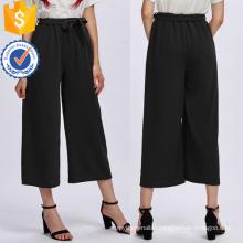 Self Tie Wide Leg Pants Manufacture Wholesale Fashion Women Apparel (TA3086P)