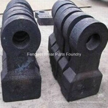 OEM High Chrome Mill Crusher Hammer Wear Hammers Parts