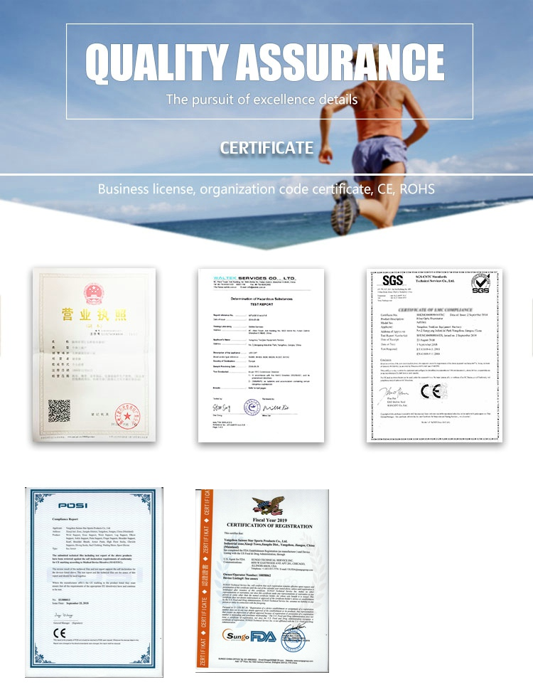 certificate of knee brace