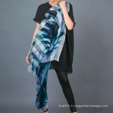 Foulard à la main à 100% Stripe Silk