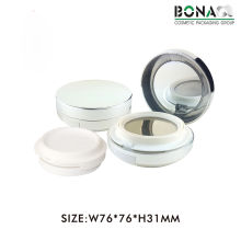 Nuevo compacto cosmético magnético redondo vacío plástico de la moda 5g