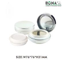 Новая мода для 5G пластичный пустой круглый магнитный косметический компактный
