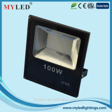 Luz de la bahía de la aleación de aluminio ligero 100W impermeable IP65 FloodLight del LED