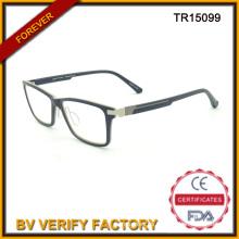 Estilo clásico adulto Tr90 marcos ópticos en negro Tr15099